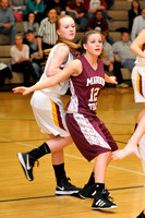 GIRLS BASKETBALL GALAX vs GRAHAM in MED DIST TOURNEY 2-13-13